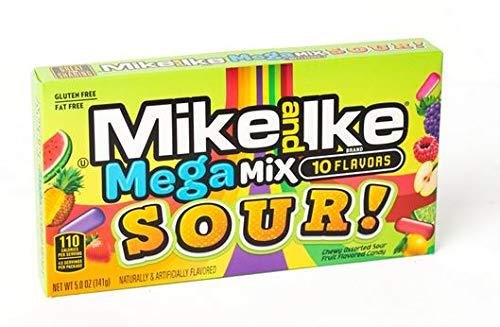 Mike & Ike Mega Mix Sours 5 oz Pack of 12
