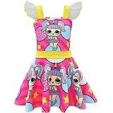 QYS Mädchen Kinder LOL Puppe Überraschung Prinzessin Kostüm Halloween Cosplay Kostüme Tanz...