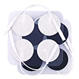 TENS Unit Pads, 40PCS Round Electrodes Pads, 1.25' Reusable Carbon Electrotherapy Pads for EMS Muscle Stimulator, with 2.0 mm Pigtail Connectors
