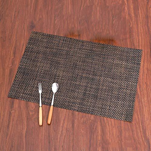 Rutschfest Tisch Tischset,Wärmeisolierung Schmutzabweisend Umweltfreundlich Tischschutz Matten,45 * 30CM coffee double color