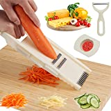Mandoline Slicer for Kitchen, 7 in 1 Vegetable Chopper and Cutter with Finger Guard, Full star Mandolin VeggieJulienne...