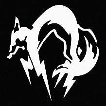 Metal Gear Solid FOX logo Car Decal Sticker White (cars, laptops, windows)