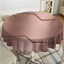 ScottDecor Wedding Round Tablecloth Industrial Realistic Looking Steel Surface Print Plate Bar Image Technology Inspired Design Rose Gold Printed Tablecloth Diameter 50