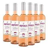 Pernales Rosado Syrah - Pack 6 botellas de 75 cl - Vino rosado D.O.'Sierras de Málaga'