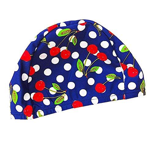 スイムキャップ キッズ 水泳キャップ キッズ 伸縮性良い 2-8歳子供用 水泳帽キッズ UVカット 滑りにくい 水泳帽こども さくらんぼ2