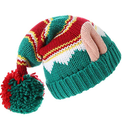 LMLALML Christmas Hats for Women, Kids and Men Elegant Knitted Warm Funny Beanie for New Year Festive Holiday Party