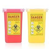Contenitore per sostanze stupefacenti - Contenitori per lo smaltimento degli aghi, Contenitore per rifiuti in plastica Smaltimento per aghi per tatuaggi Biohazard 1L (Colore : Red)
