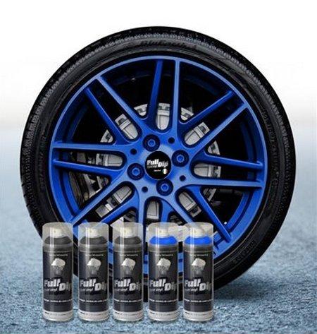 Sophisticauto Full Dip Packs Ahorro Llantas 5 Sprays Azul ELECTRICO Candy Perla Mate