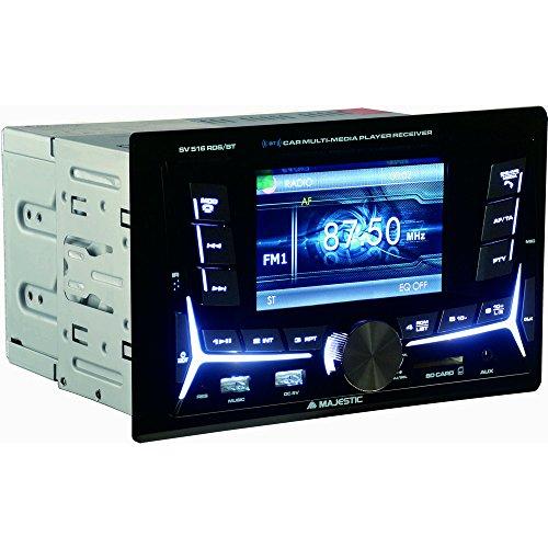 'Majestic SV 516 RDS BT – Autoradio FM Bluetooth Double dIN avec écran 4, Double USB, entrée SD/aUX-in, 180 W (45 W x 4 CH), Noir