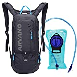 Arvano Hydration Backpacks, 6L Mini Hydration Pack with 2L Water Bladder Lightweight Cycling