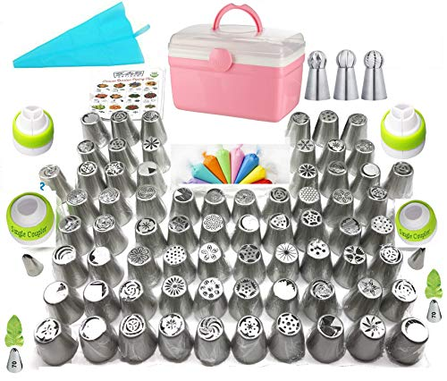 K&S Artisan Russian Piping Tips Deluxe Cake Decorating Nozzles 70...