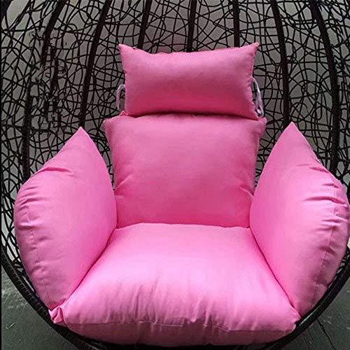 Cojín para silla de huevo DYYD, para silla colgante de huevo, hamaca de huevo, para interiores y exteriores, jardín, 60 x 50 cm (color: azul cielo) (sin silla), color: beige (color: rosa).