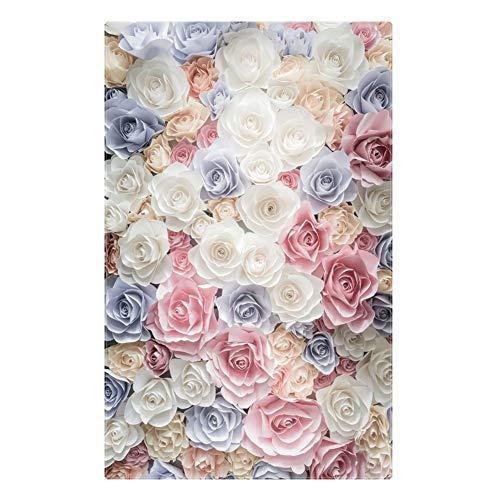 Designer Teppich Moderne 3DLangflor Shaggy weicher Blume Bchome Wohnzimmer Schlafzimmer Übergroße rutschfeste Waschbar Boden Yoga Matte Wohnkultur P7644-150X220cm