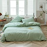 Geometric Duvet Cover Sets King Grey Teens Bedding Set Premium Cotton Men Comforter Cover King with 2 Pillow Cases Luxury Bed Cover Set with 4 Corner Ties Modern Quilt Cover White Blue, No Comforter