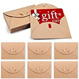 HANSGO Gift Card Envelopes, 100PCS 4 x 2.8 inch Cute Envelopes Small Gift Card Holders Mini Seed Envelopes with Heart Shaped Clasp