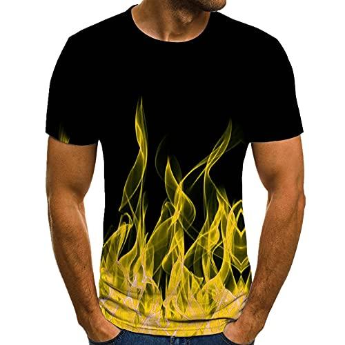 Camiseta de los hombres de verano de manga corta cuello redondo elemento camisa de los hombres