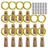 Bottle Lights with Cork, BIGHOUSE 16 Pack 2M 20 LEDs Wine Bottle Lights