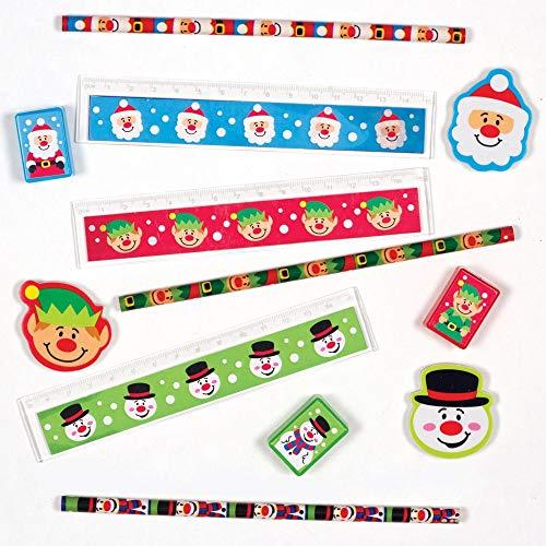 Baker Ross Kits de Papeterie Amis festifs (Paquet de 4) - Loisirs créatifs de Noël pour Enfants