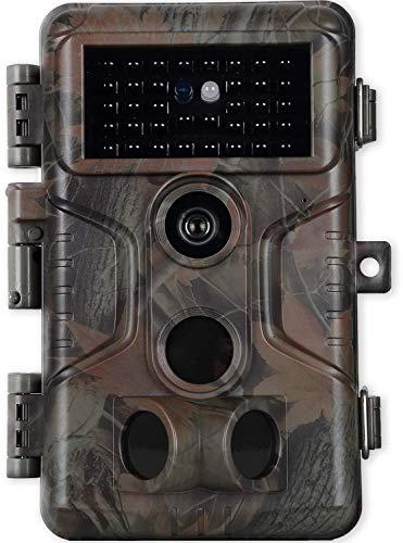 Wildkamera Nachsichtkamera Hirsch Kamera20MP 1080P Überwachungskamera mit Nachsicht Bewegungsmeldung für Jagd Wald Überwachung Forschung, Video mit Tonaufnahme, Passwort Schutz, IP66 Wasserdicht