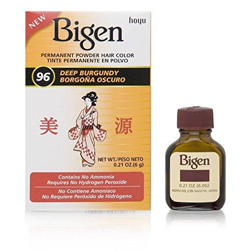 Bigen Permanent Powder Hair Color, Deep Burgundy.21 Ounce