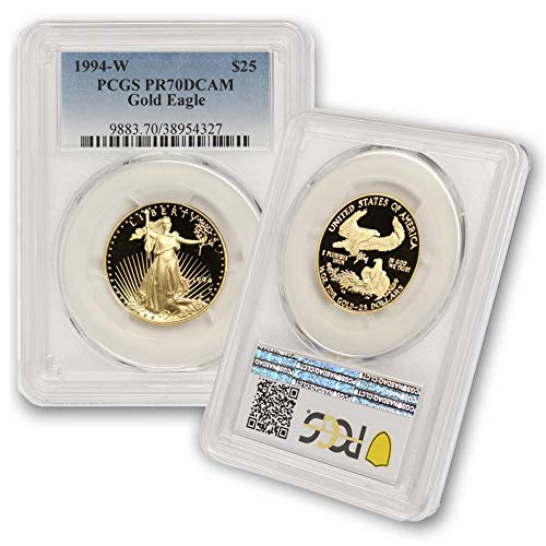 1994 W 1/2 oz Proof Gold American Eagle PR-70 Deep Cameo by CoinFolio $25 PR70DCAM PCGS