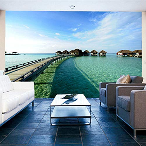 Küstenlandschaft Tapete Moderne Einfache Innen Wohnzimmer Schlafzimmer Hintergrund Wanddekor Fototapete 430x280cm