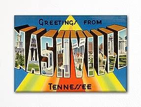 Greetings From Nashville Souvenir Fridge Magnet
