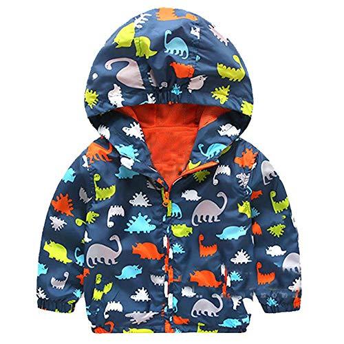 Niños bebé Chaqueta con Capucha niños niñas otoño Invierno Dinosaurio Abrigo con Cremallera Grueso cálido Capa Exterior Ropa por Venmo