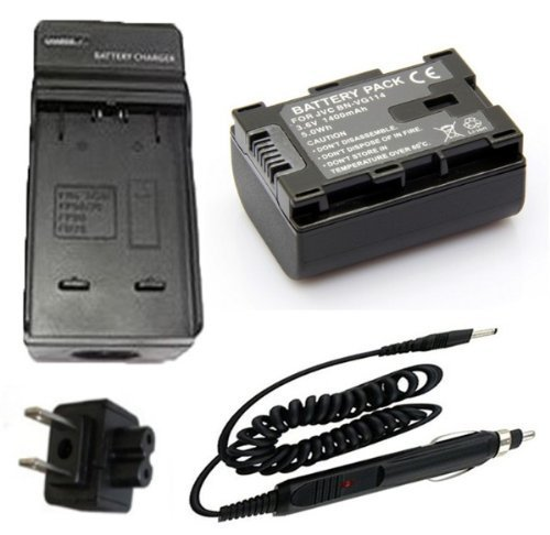 Battery + Charger for JVC Everio GZ-HM35BU, GZ-HM40BU, GZ-HM65BU HD Flash Memory Camcorder