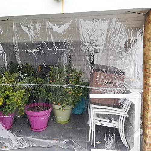 GZHENH Lona Transparente Impermeable, Hoja De Lona Resistente con Ojales AntiI-UV Impermeable Plegable Dosel De La Planta para Acampar En Jardinería, Personalizable