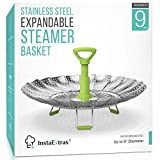 Stainless Steel Expandable Steamer Basket - Collapsible Steam Cooking Insert For Steaming Food,...