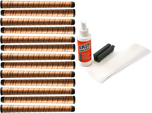 "Winn Dritac Wrap Oversize +1/8"" Copper Golf Grip Kit with Tape Solvent Vise Clamp (13 Piece)"