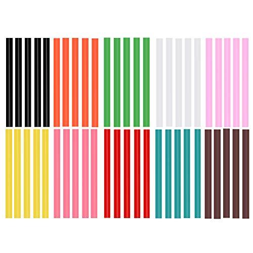 Color Hot Glue Sticks for Hot Glue Gun 50PCS Colored Hot Glue Gun Sticks 10 Colors Colorful Hot Glue Sticks