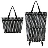 Toomett Collapsible Trolley Bags Folding Shopping Bag with Wheels Foldable Shopping Cart Reusable Shopping...