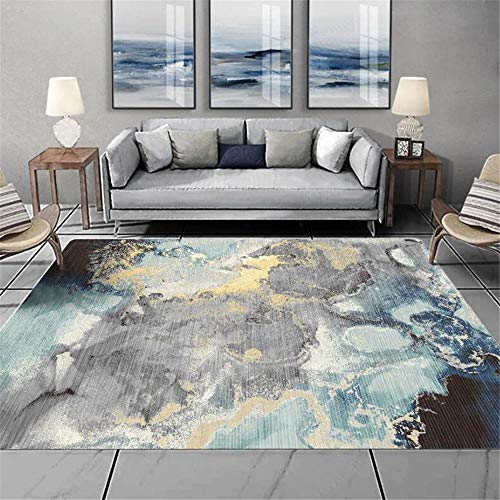 WQ-BBB Durable simplicity kids rug Graffiti abstract design rug living room black gray blue yellow dosen't shed Rugs 45X75cm
