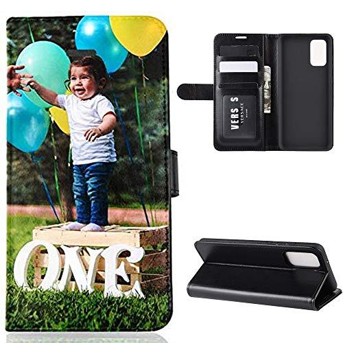 Für Samsung Galaxy M30S/M21 Personalisierte Foto-Handyhülle, Flipcase Personalisierte Persönliche Ihr Eigenes Bild Foto Brauch Schutzhülle Handy Hülle Tasche Flip Book Hülle Cover