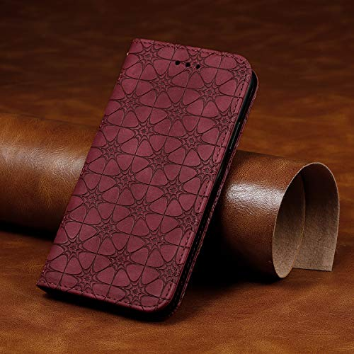 Coque iPhone 11 Porte-Cartes [Béquille] [Fentes pour Cartes] [Fermoir Magnétique] Étui à Rabat Housse en Cuir pour Apple iPhone 11 2019 - TTYY010029 Rouge