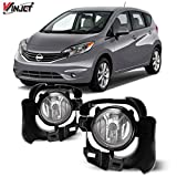 Winjet Compatible with [2014 2015 2016 Nissan Versa Note] Driving Fog Lights + Switch + Wiring Kit