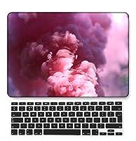 FULY-CASE プラスチックウルトラスリムライトハードシェルケース対応のあるMacBook Pro 15インチRetinaディスプレイCD-ROMなしUSキーボードカバー A1398 (バラの花 0534)