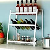 Freshtour Estantería para especias, tarros de organizador, estantería cocina,...