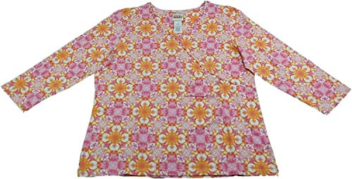 Ruby Rd. Embellished Printed Top (Assorted Styles) (XL, Carnation)