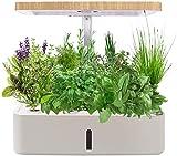 YZPFSD Hidroponía Cultivo y Kit Sistema de jardinería de Interiores, Smart Plant LED de Cultivo Kits de germinación for la Cocina casera plantación (12 potes de nutrientes y Semillas no Incluidas)