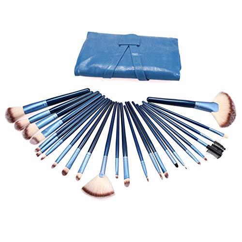 Brosses de Maquillage, 24PCS Ensemble Brosse Professionel Yeux Lèvre Fard à Paupières Kit Cosmétique