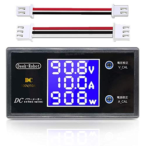 LCDデジタル電圧計電流計電圧電流ボルト電力計 小型デジタル (DC 100V 10A)