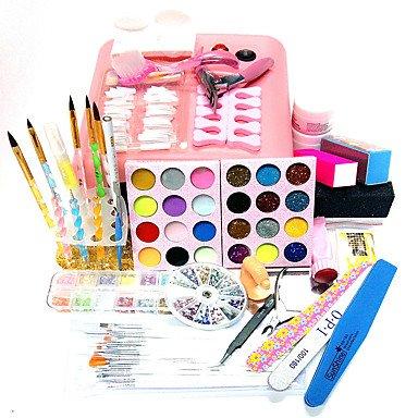 MZP 33sets 818uv ??nail art kit de type quantité d'emballage de lampe à ongles clou décoration style art ongles diy , uk adapter