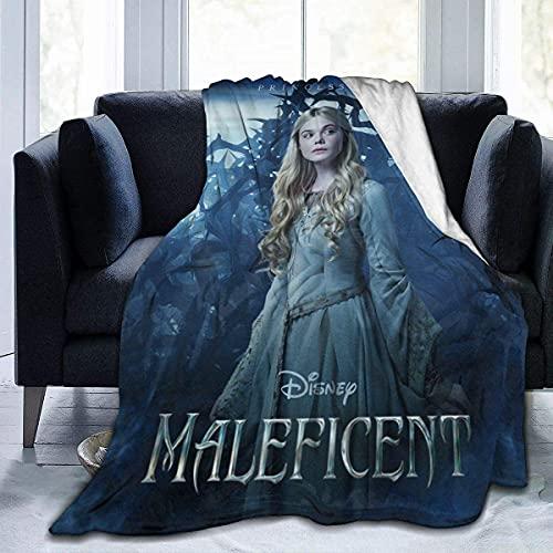 WBOBGD Malefi-Cent Bedruckte Flanell-Decke für Couch, Bett, superweiche, gemütliche Mikrofaser-Decke, alle Jahreszeiten