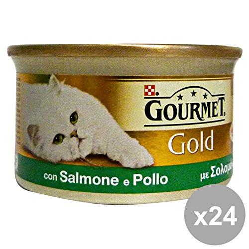 PURINA Set 24 Dadini Poulet au saumon 85 gr Nourriture Pour chats