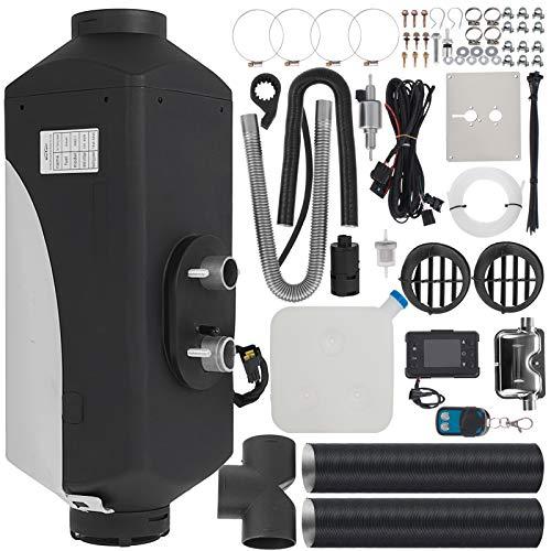 HODOY Riscaldatore Digitale 5Kw Termostato Diesel Riscaldatore Elettrico 12V Riscaldatore Elettrico a Gas Per Camper Camper e Autobus (12V 5Kw Con 51 Pezzi di kit)