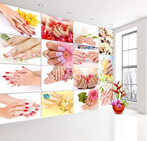 Fotobehang voor muurfoto's, kleurrijk, moderne nail foot art massage, 3D-papier, voor 3D-camera's, achtergrondrollen, papierrollen, decoratie voor thuis 430 * 300 430 * 300