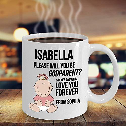 Eastlif Regalos Personalizados para Padrinos Diseña tu Propia Taza Refranes Personalizados de Padrino y Madrina Cita Personalizada Taza de té de café